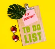 Summer to do list Stock Images