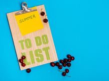 Summer to do list Stock Photo