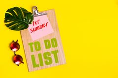Summer to do list Royalty Free Stock Image
