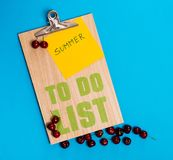 Summer to do list Royalty Free Stock Images