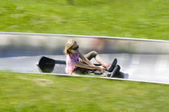 Summer toboggan run Stock Image