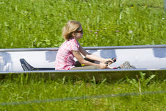 Summer toboggan run Royalty Free Stock Photos