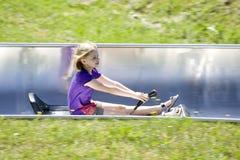 Summer toboggan run. In bavaria Royalty Free Stock Image