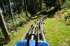 Summer toboggan run Royalty Free Stock Photo