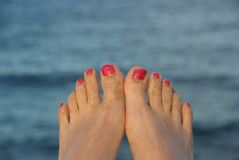 Summer toes Royalty Free Stock Images
