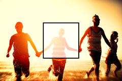 Summer Togetherness Friendship Square Copy Space Concept Stock Photography