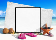 Summer Togetherness Friendship Square Copy Space Concept Royalty Free Stock Photography