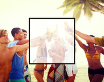 Summer Togetherness Friendship Square Copy Space Concept Stock Image