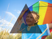 Summer Togetherness Friendship Triangle Copy Space Concept Royalty Free Stock Photography