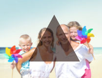 Summer Togetherness Friendship Triangle Copy Space Concept Stock Images