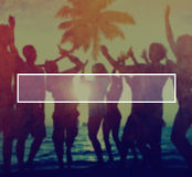 Summer Togetherness Friendship Vacation Bonding Concept Stock Images