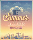 Summer tours poster. Stock Photos