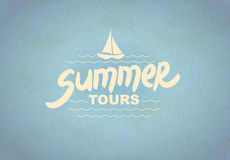 Summer tours - typographic design Stock Photography