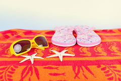 Summer towel Royalty Free Stock Images