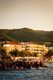 Summer Town Scenery Stock Photography