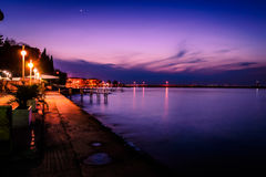 Summer Town Seaside Evening Stock Image
