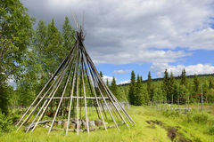 Summer traditional chum in Lapland Stock Image
