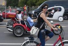 Summer traffic in Berlin stock photography
