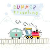 Summer train travel Stock Photos