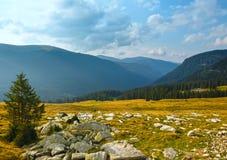 Summer Transalpina road (Carpathians,  Romania). Royalty Free Stock Photography