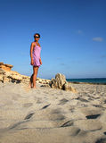 Summer Travel. Summertime On The Beach Of Formentera Island, Spain stock photography