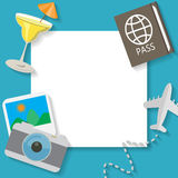 Summer and travel background Royalty Free Stock Images