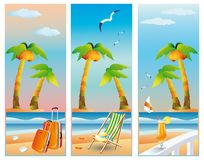 Summer travel banners,  Stock Photos
