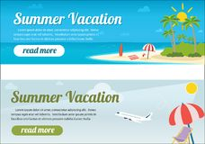 Summer travel banners. Tropic vacation background design Royalty Free Stock Photography