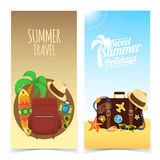 Summer travel banners Stock Photos