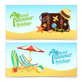 Summer travel banners Stock Image