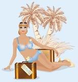 Summer travel beautiful woman Stock Photo