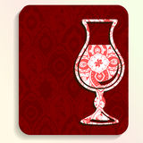 Summer travel card with intricate patterns Royalty Free Stock Photography
