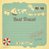 Summer Travel Card in retro Style Stock Photo