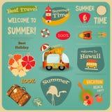 Summer Travel Card Stock Photos