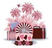 Summer travel casino background Stock Images