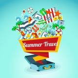Summer Travel Concept Poster Stock Photos