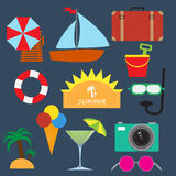 Summer travel elements Royalty Free Stock Photo
