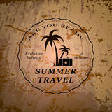 Summer travel emblem Royalty Free Stock Images