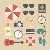 Summer travel equipment Stock Images