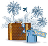Summer travel greeting card Royalty Free Stock Photography