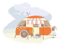 Summer travel in a house on wheels Stock Image