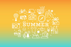 Summer travel icon concept illustration Stock Photos