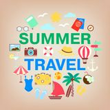Vacation, holidays and travel concept vector collection. Royalty Free Stock Photo