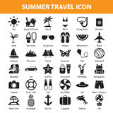 Summer travel icon set. Vector Royalty Free Stock Photos