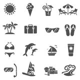 Summer And Travel Icons Set Stock Photo