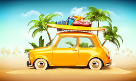 Summer travel illustration Royalty Free Stock Photo
