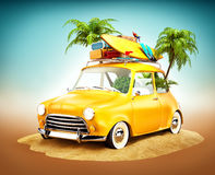 Summer travel illustration Stock Image