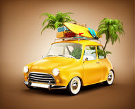 Summer travel illustration Royalty Free Stock Image