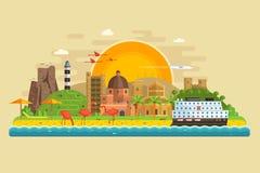 Summer Travel Island Landscape Stock Photos