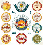Summer and travel labels Royalty Free Stock Photo